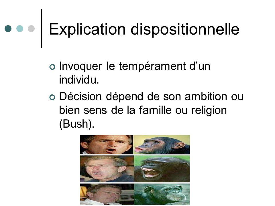 Explication dispositionnelle