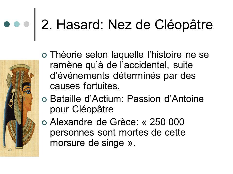 2. Hasard: Nez de Cléopâtre