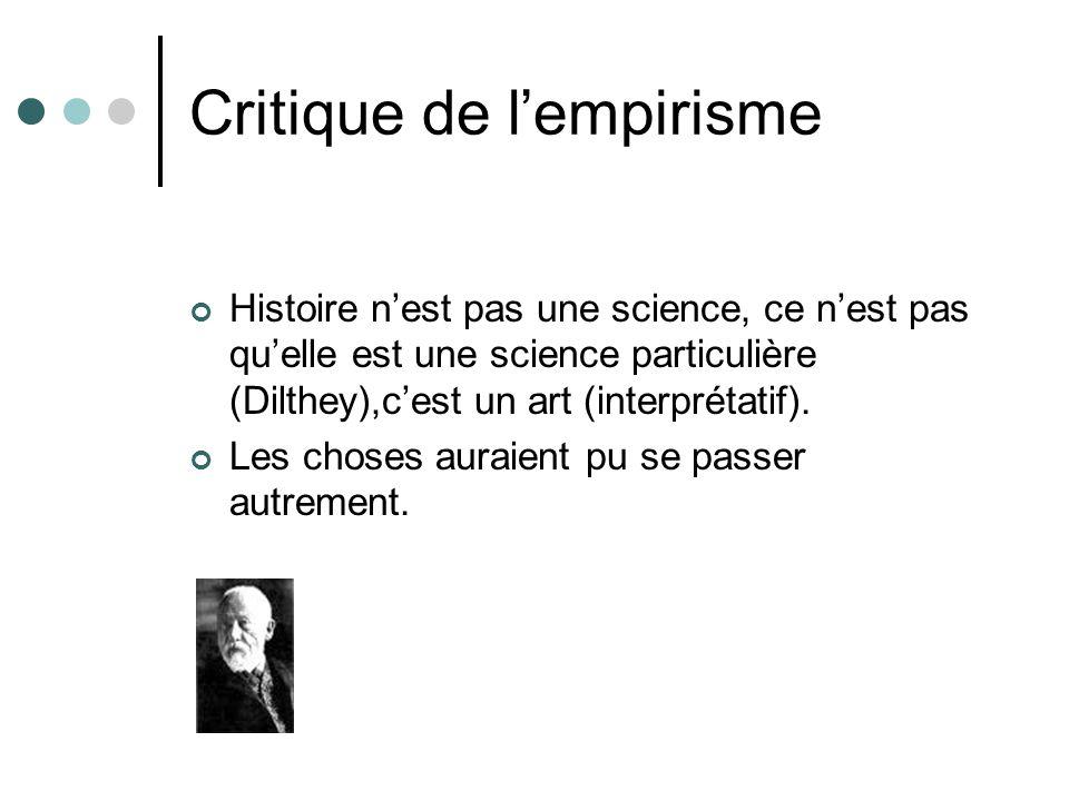 Critique de l'empirisme