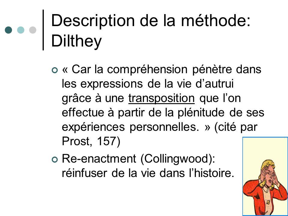Description de la méthode: Dilthey