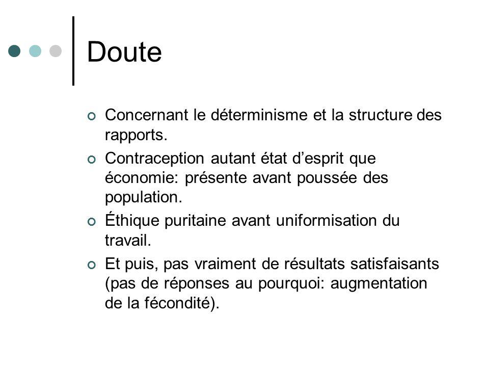 Doute Concernant le déterminisme et la structure des rapports.