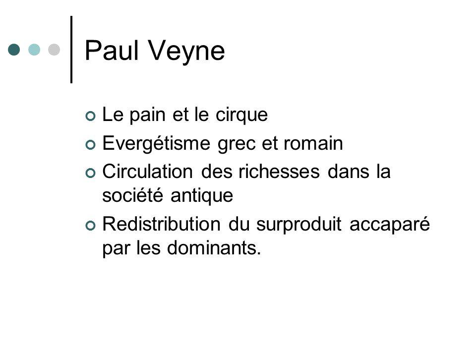 Paul Veyne Le pain et le cirque Evergétisme grec et romain