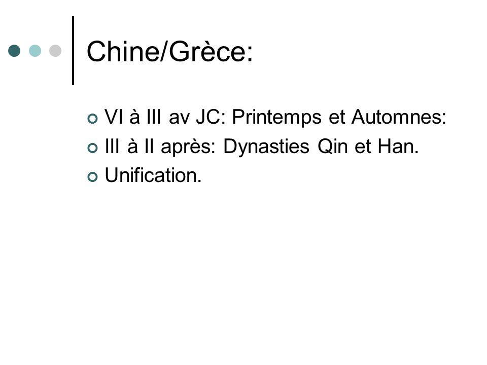 Chine/Grèce: VI à III av JC: Printemps et Automnes: