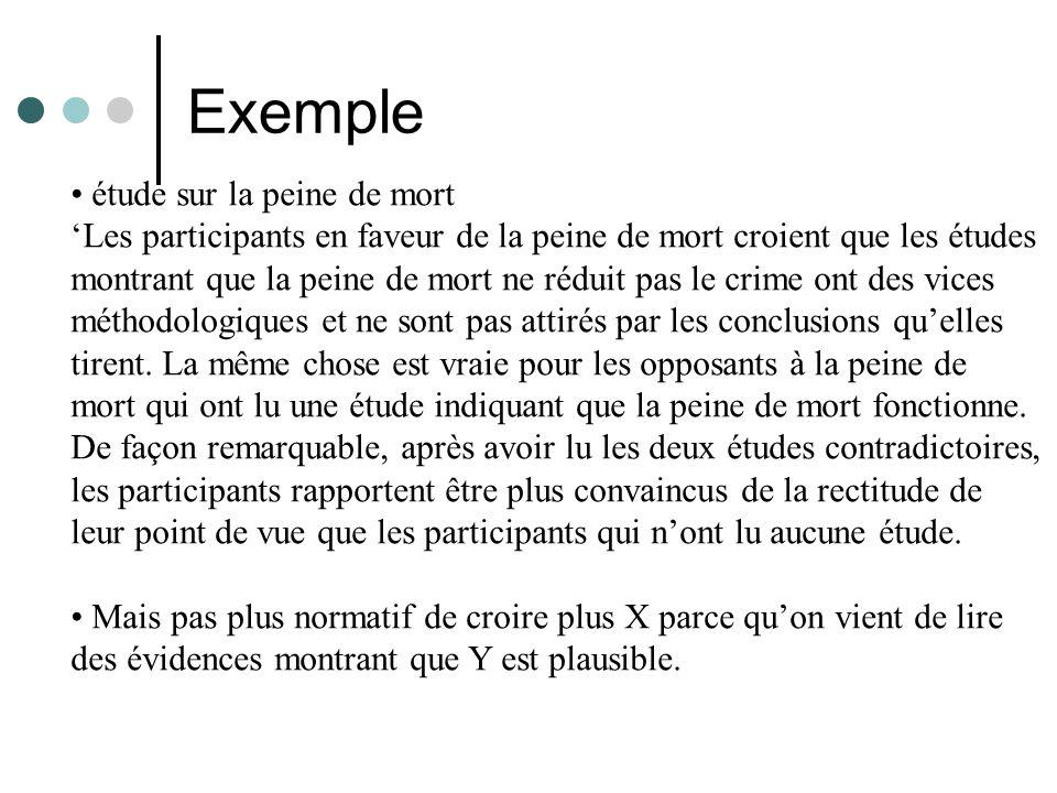 Exemple • étude sur la peine de mort