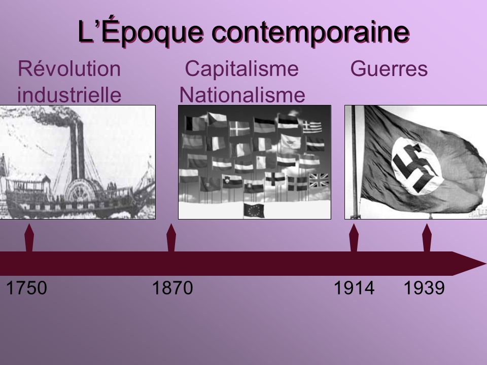 L'Époque contemporaine