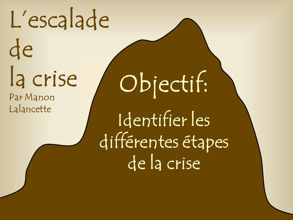 Identifier les différentes étapes de la crise