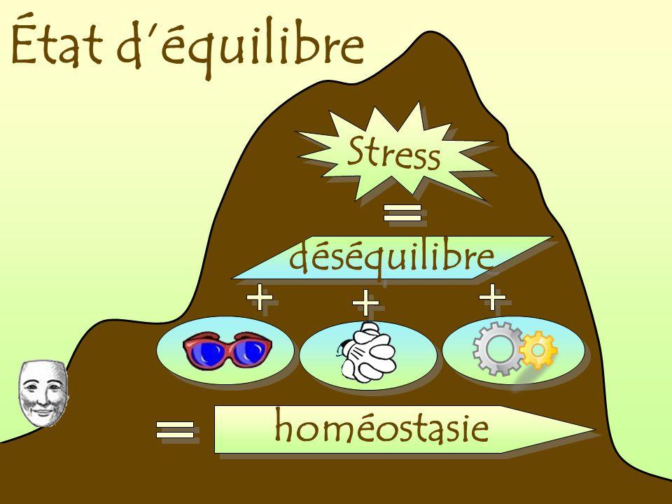 État d'équilibre Stress déséquilibre homéostasie