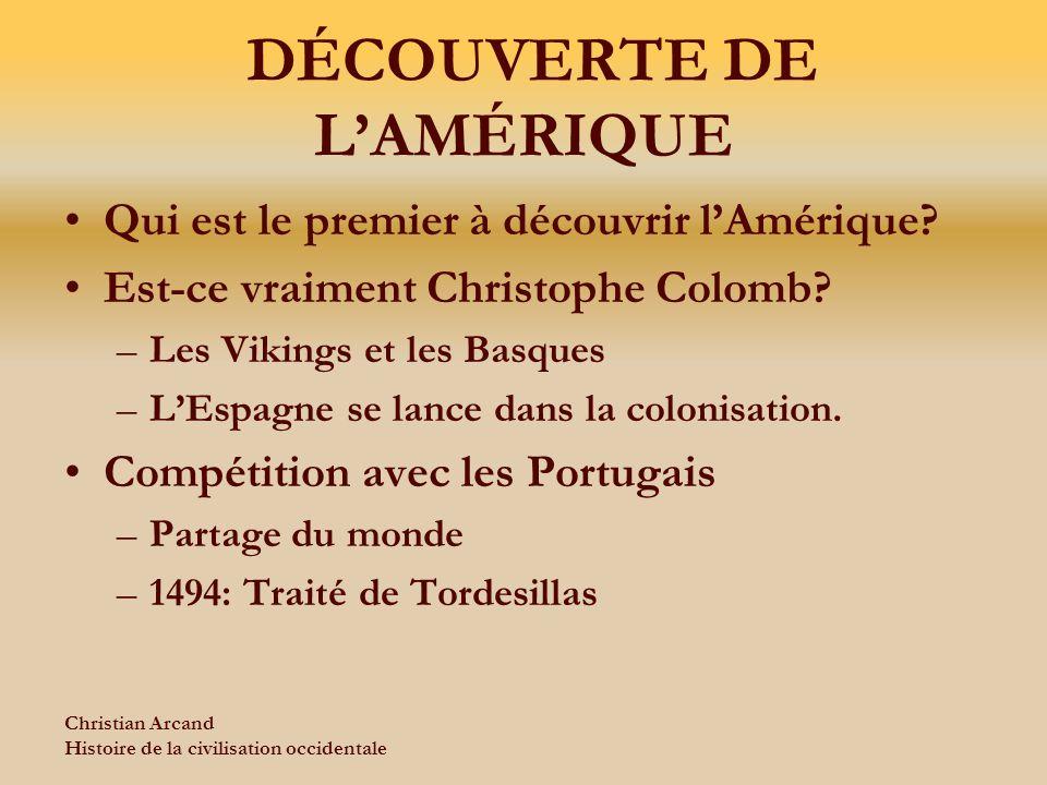 DÉCOUVERTE DE L'AMÉRIQUE