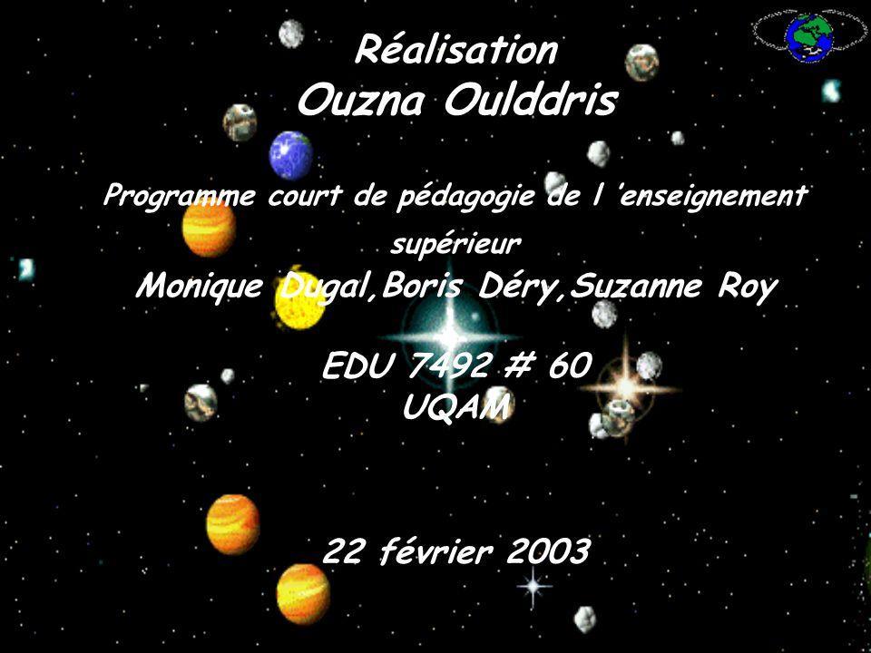 Ouzna Oulddris Réalisation Monique Dugal,Boris Déry,Suzanne Roy