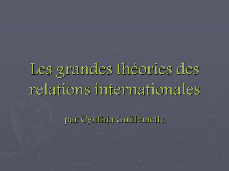Les grandes théories des relations internationales