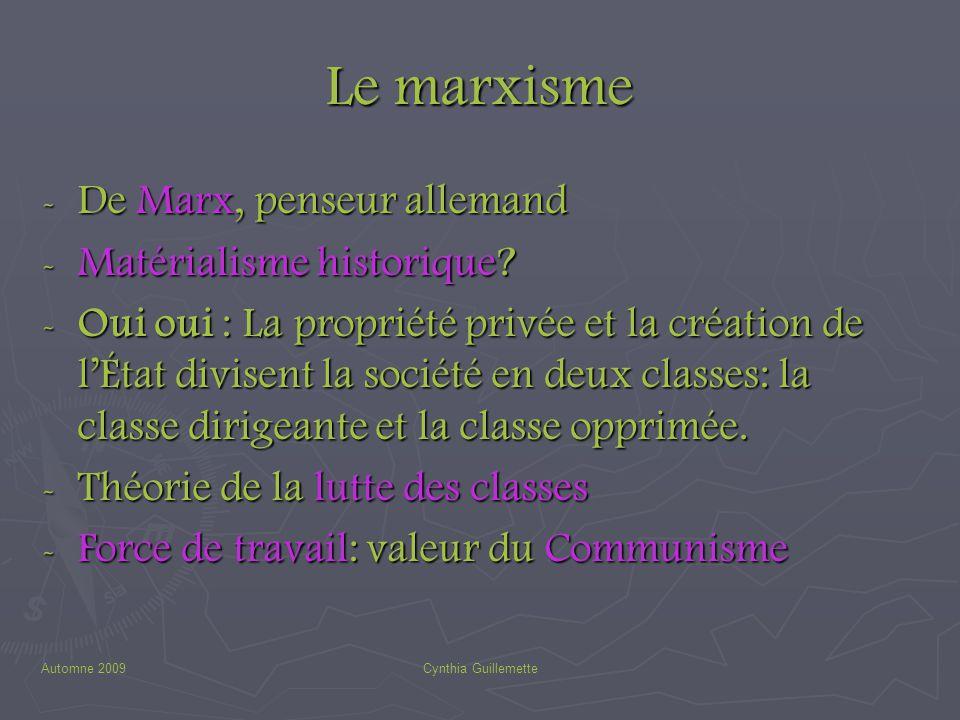 Le marxisme De Marx, penseur allemand Matérialisme historique