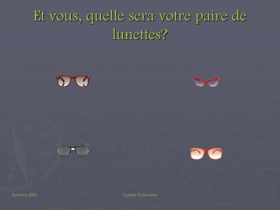 Et vous, quelle sera votre paire de lunettes