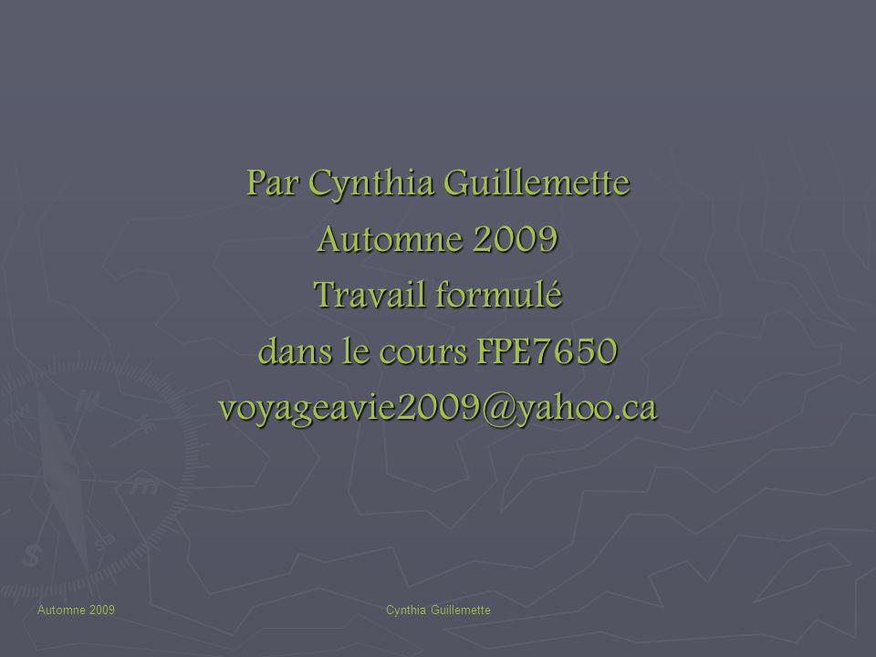 Par Cynthia Guillemette