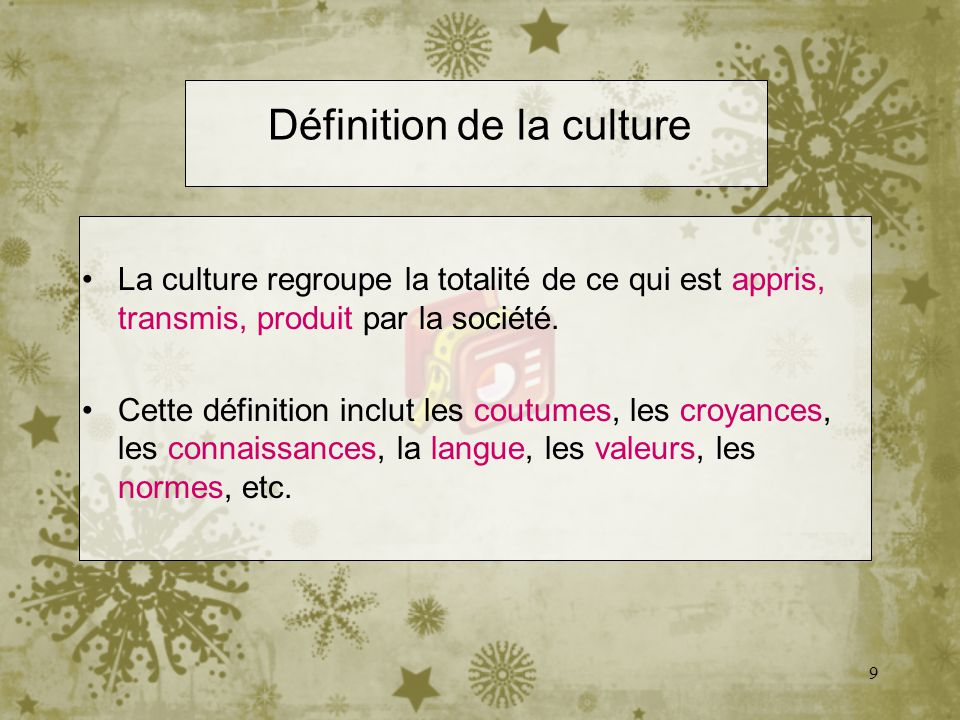 Définition de la culture