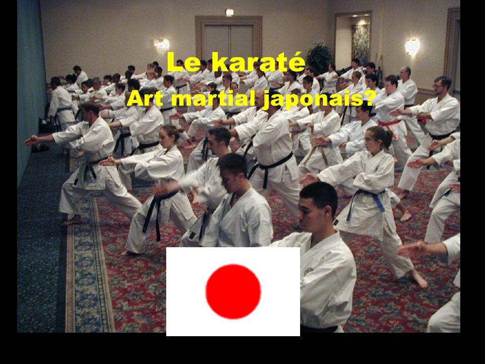 Le karaté Art martial japonais