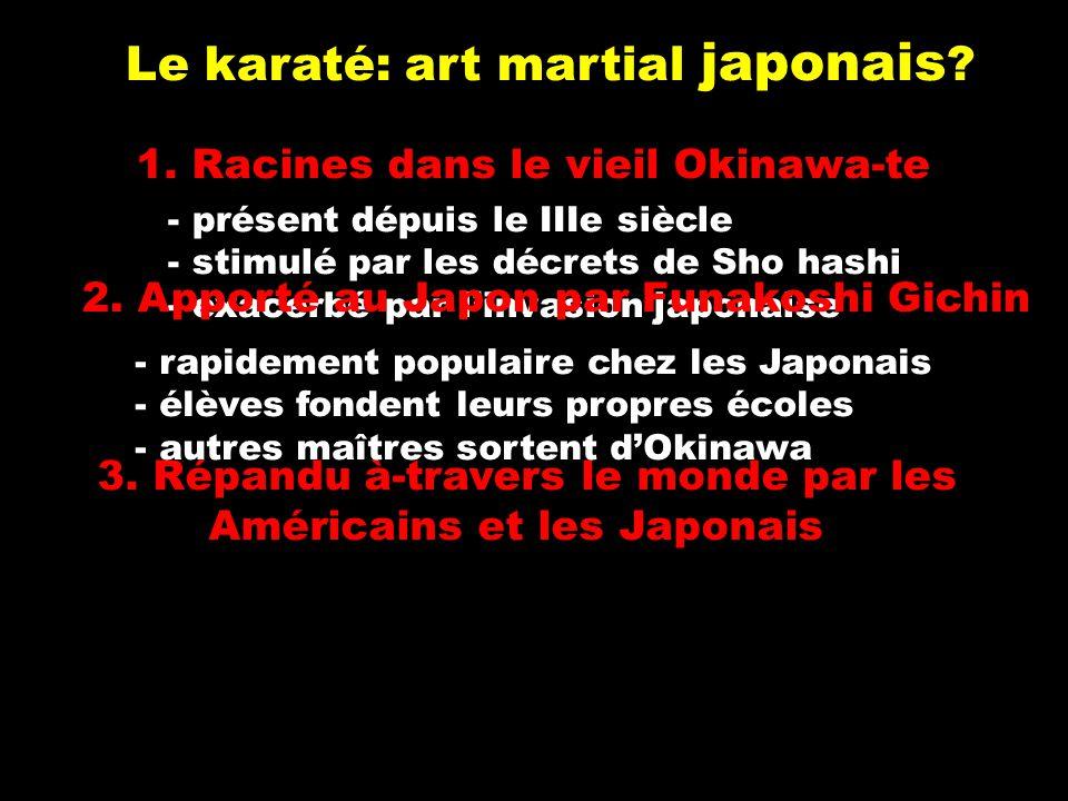 Le karaté: art martial japonais