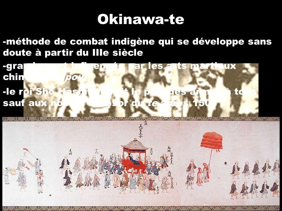 Okinawa-te méthode de combat indigène qui se développe sans