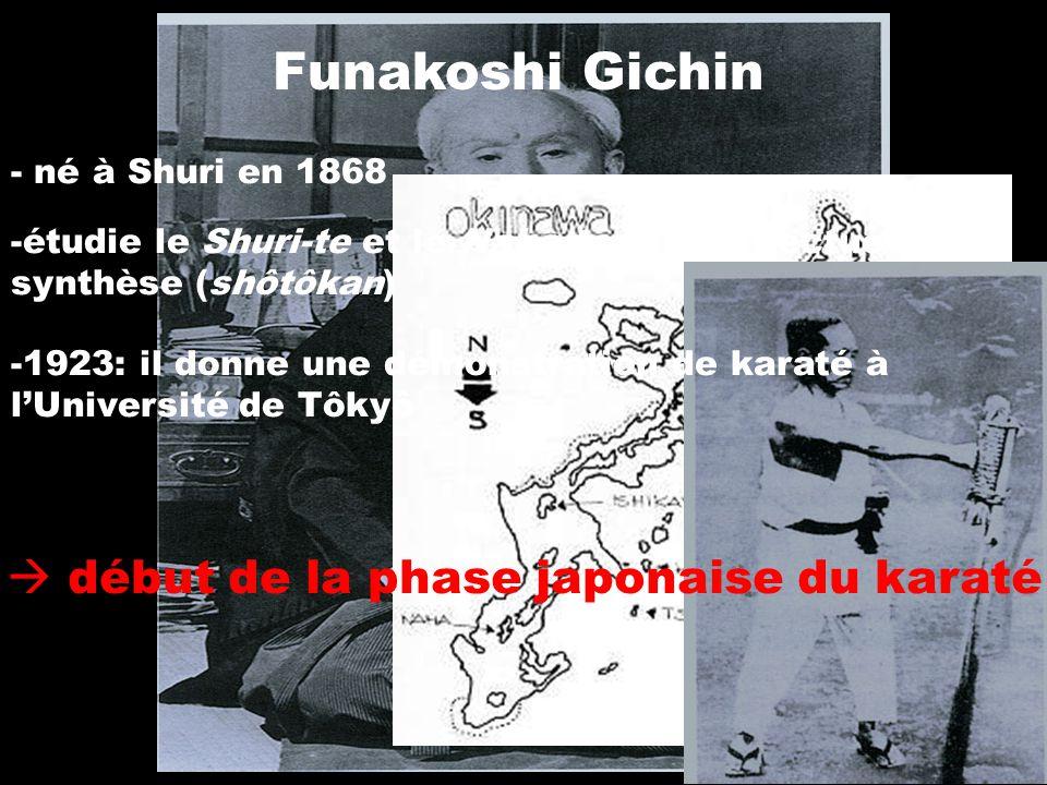 Funakoshi Gichin  début de la phase japonaise du karaté