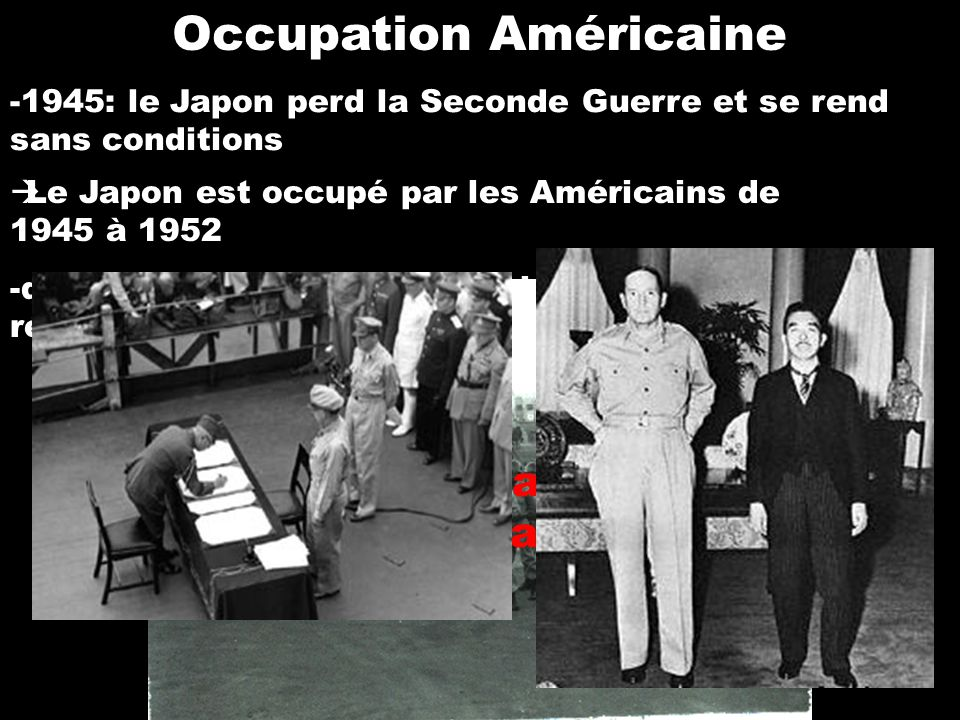 Occupation Américaine