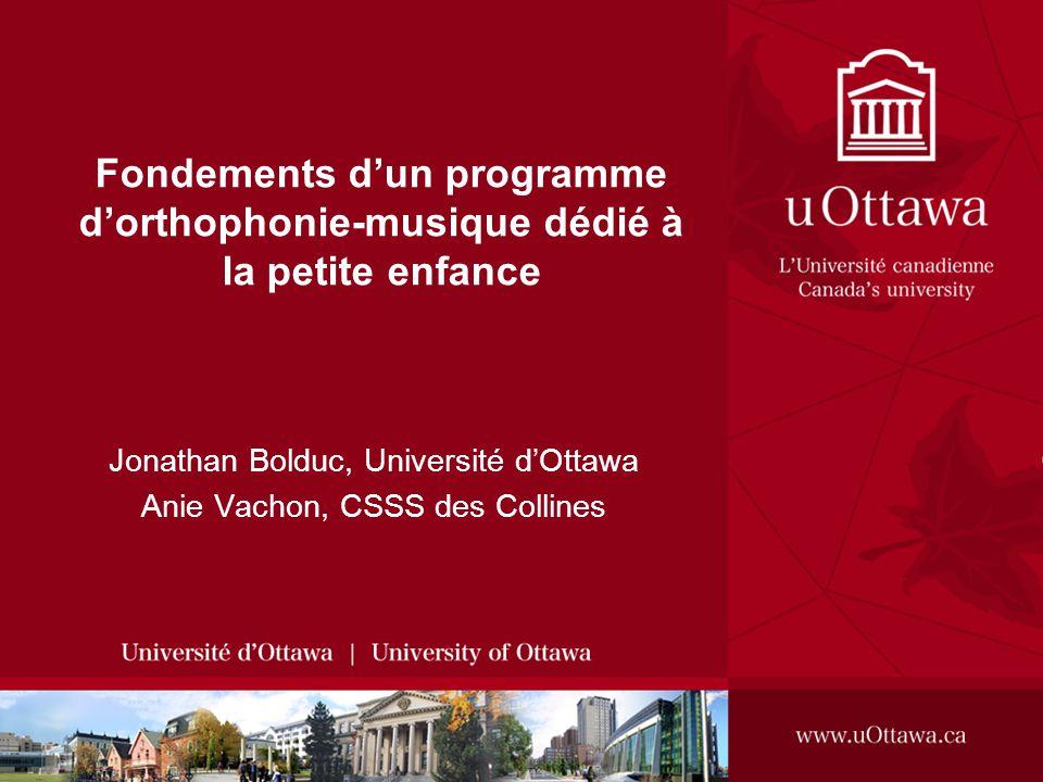 Jonathan Bolduc, Université d'Ottawa Anie Vachon, CSSS des Collines