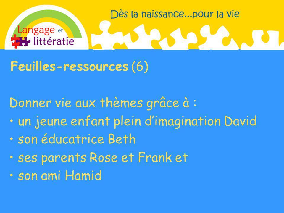 Feuilles-ressources (6) Donner vie aux thèmes grâce à :