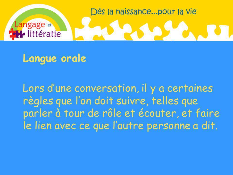 Langue orale