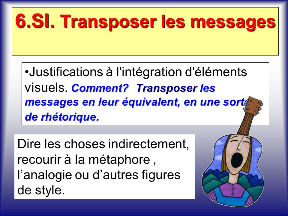 6.SI. Transposer les messages