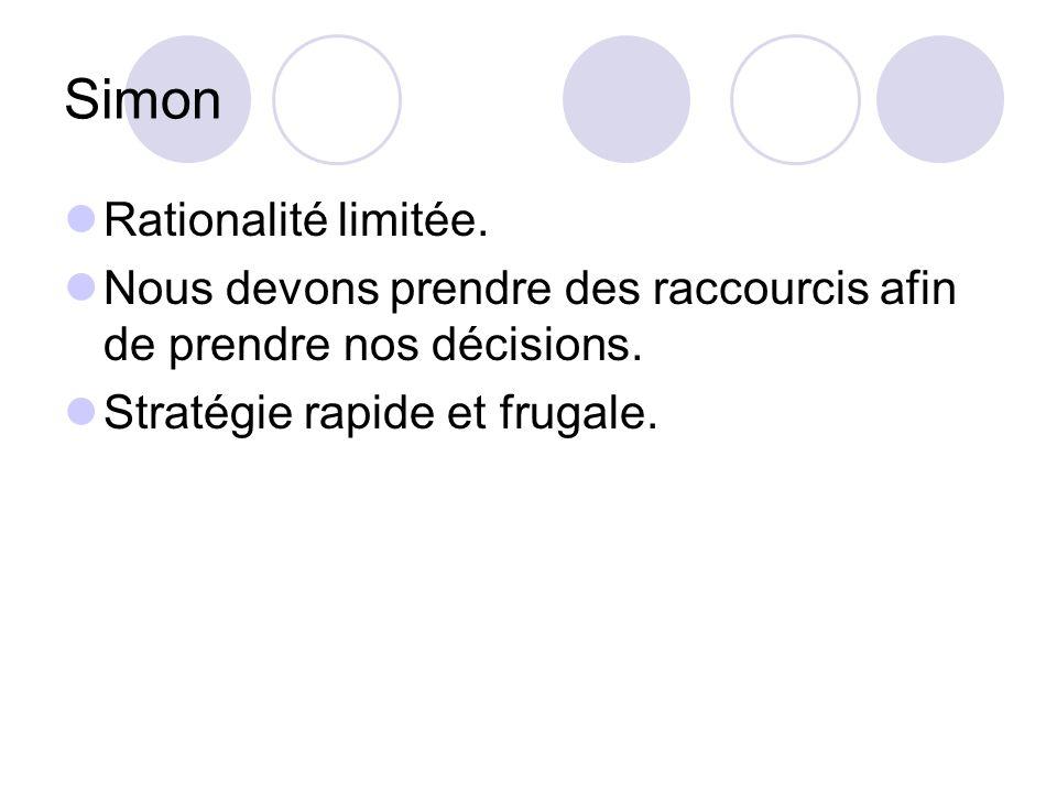 Simon Rationalité limitée.