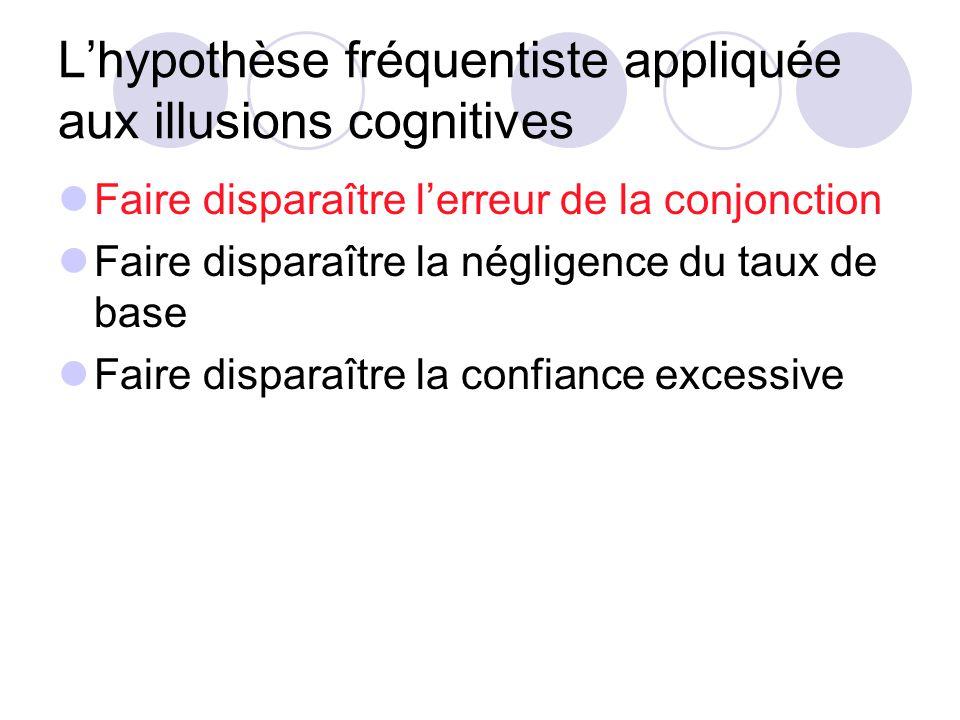 L'hypothèse fréquentiste appliquée aux illusions cognitives