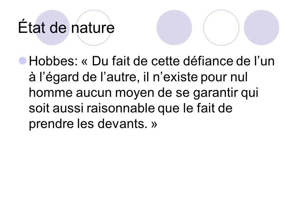 État de nature