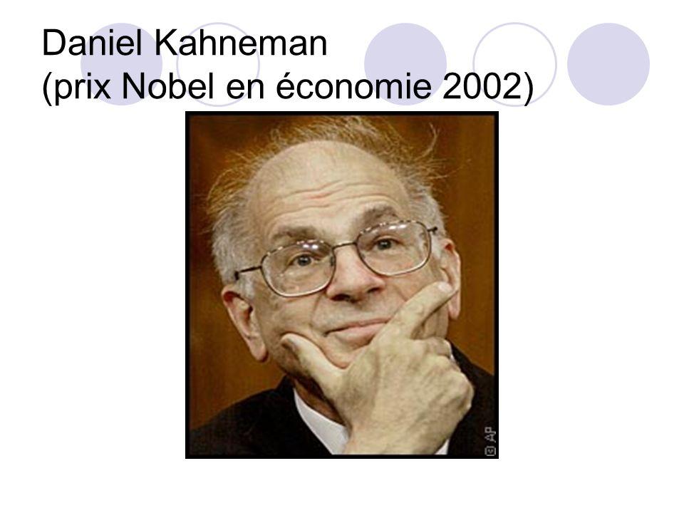 Daniel Kahneman (prix Nobel en économie 2002)