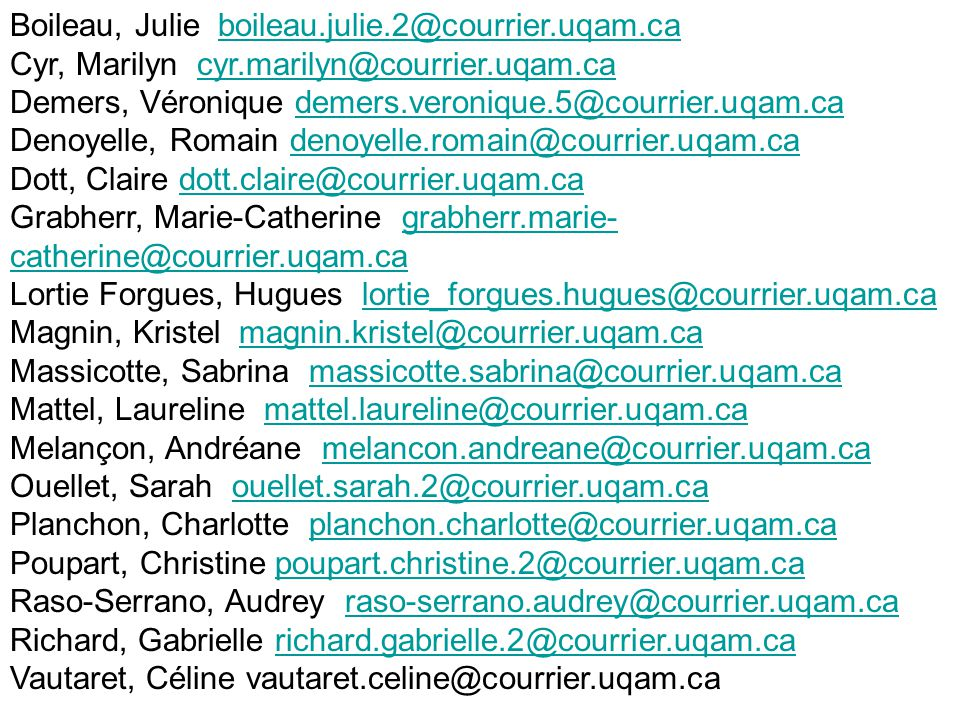 Boileau, Julie boileau.julie.2@courrier.uqam.ca