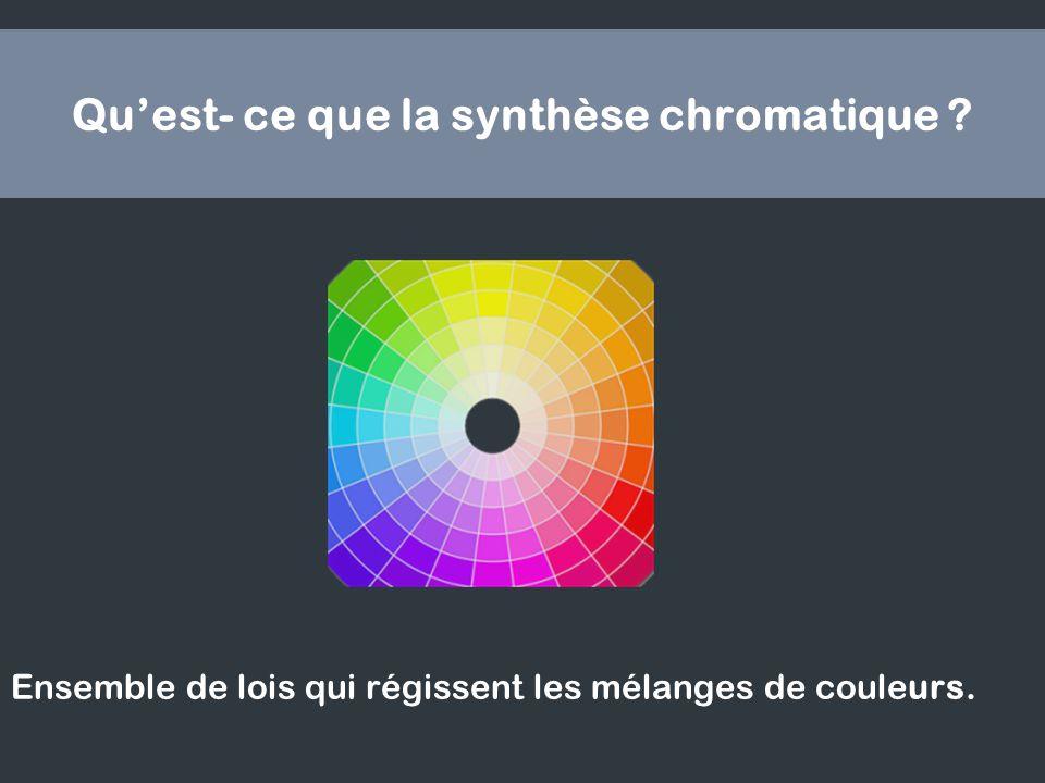Qu'est- ce que la synthèse chromatique