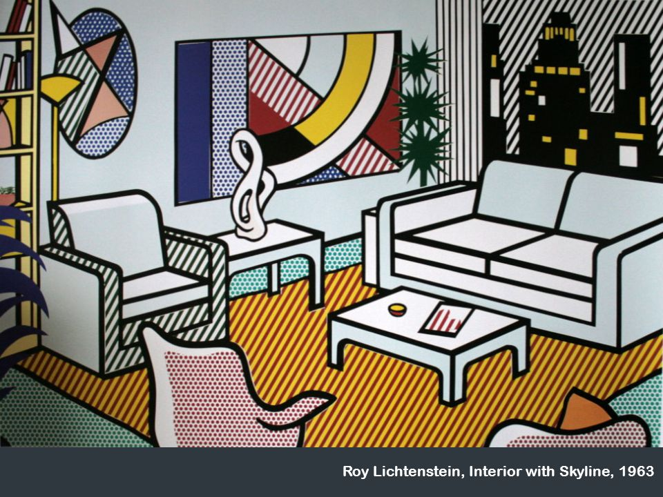 Roy Lichtenstein, Interior with Skyline, 1963
