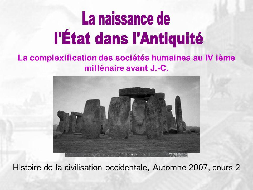 Histoire de la civilisation occidentale, Automne 2007, cours 2