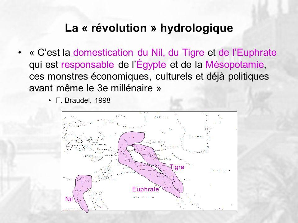 La « révolution » hydrologique