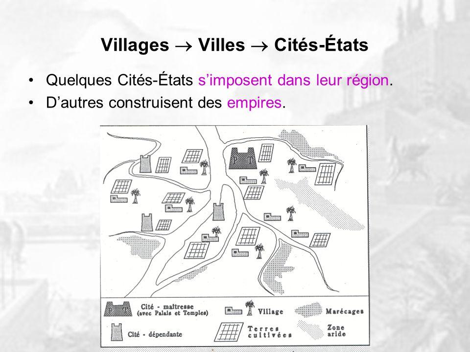 Villages  Villes  Cités-États