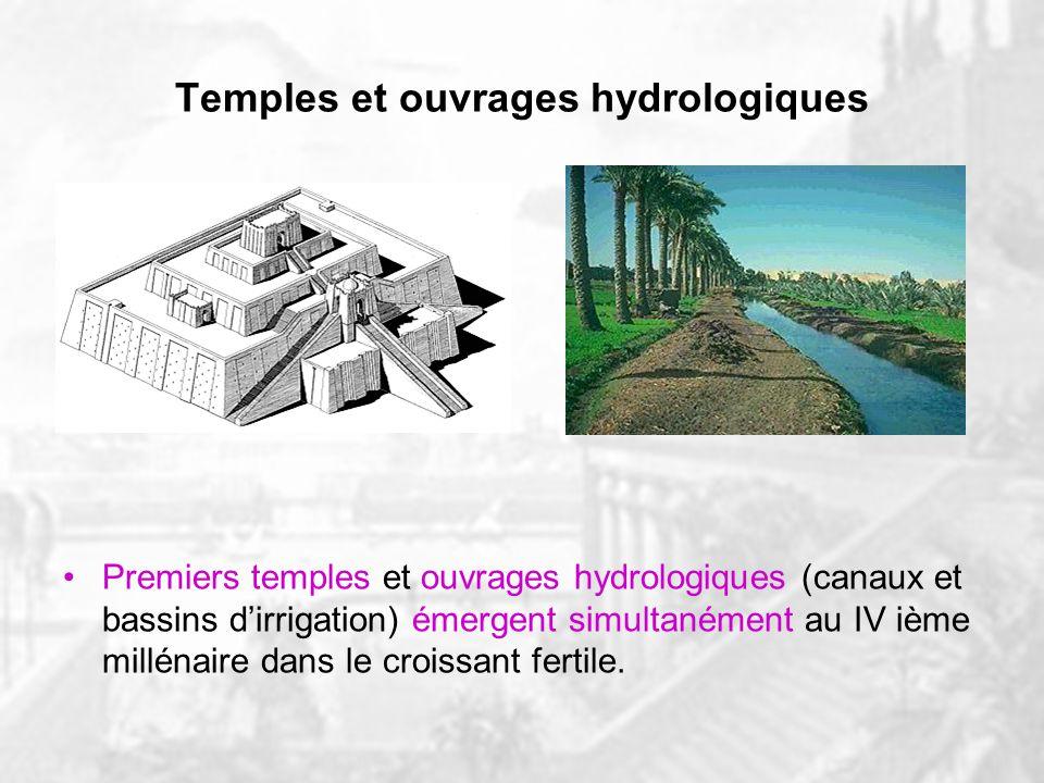 Temples et ouvrages hydrologiques