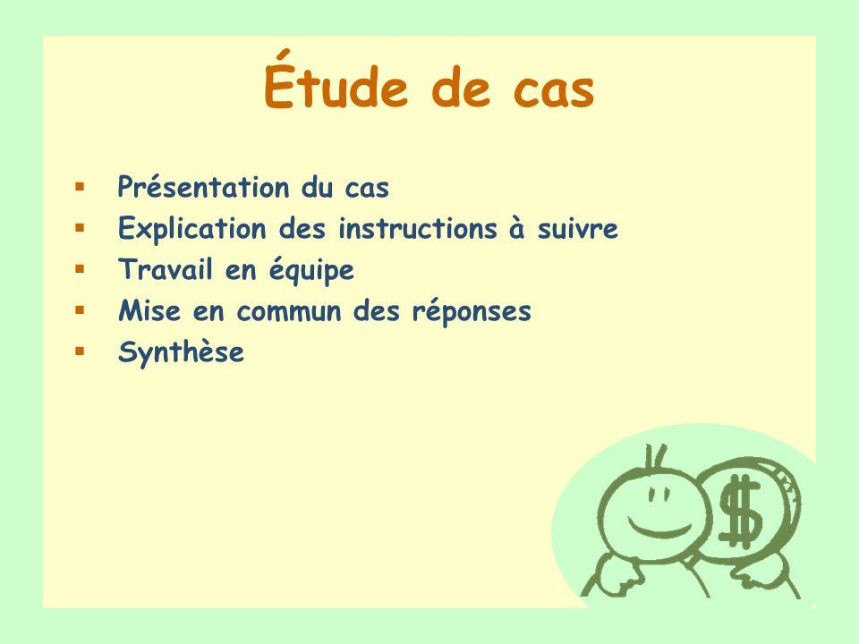 Étude de cas Présentation du cas Explication des instructions à suivre