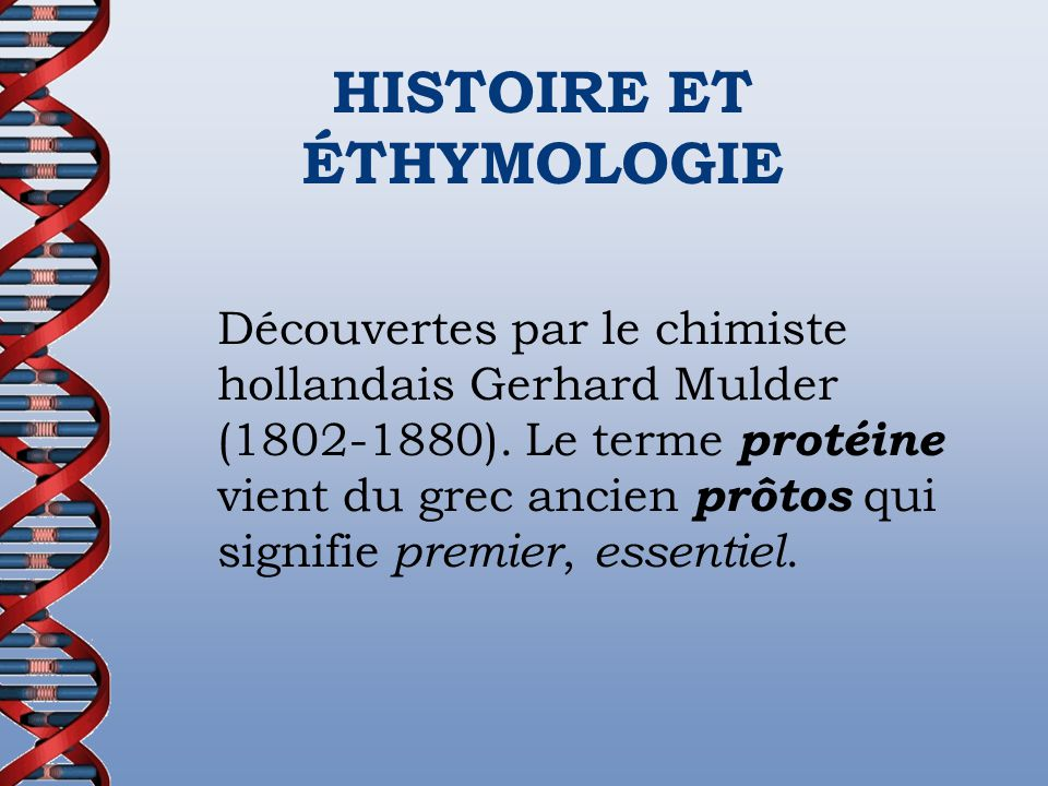 HISTOIRE ET ÉTHYMOLOGIE