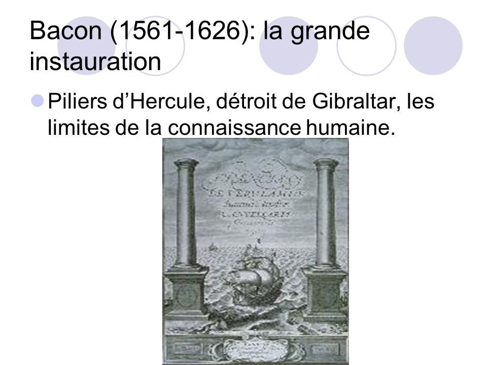 Bacon (1561-1626): la grande instauration