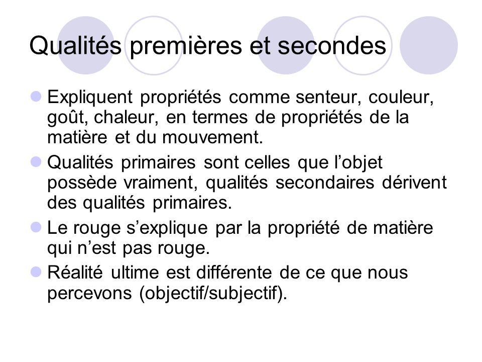 Qualités premières et secondes