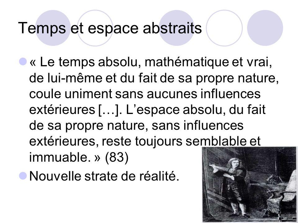 Temps et espace abstraits