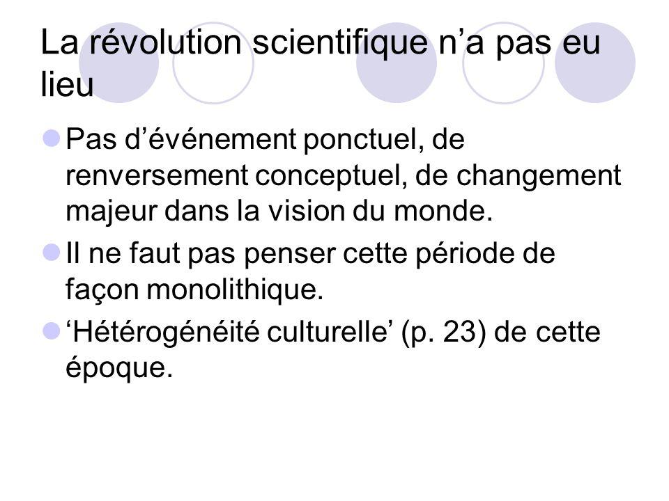 La révolution scientifique n'a pas eu lieu