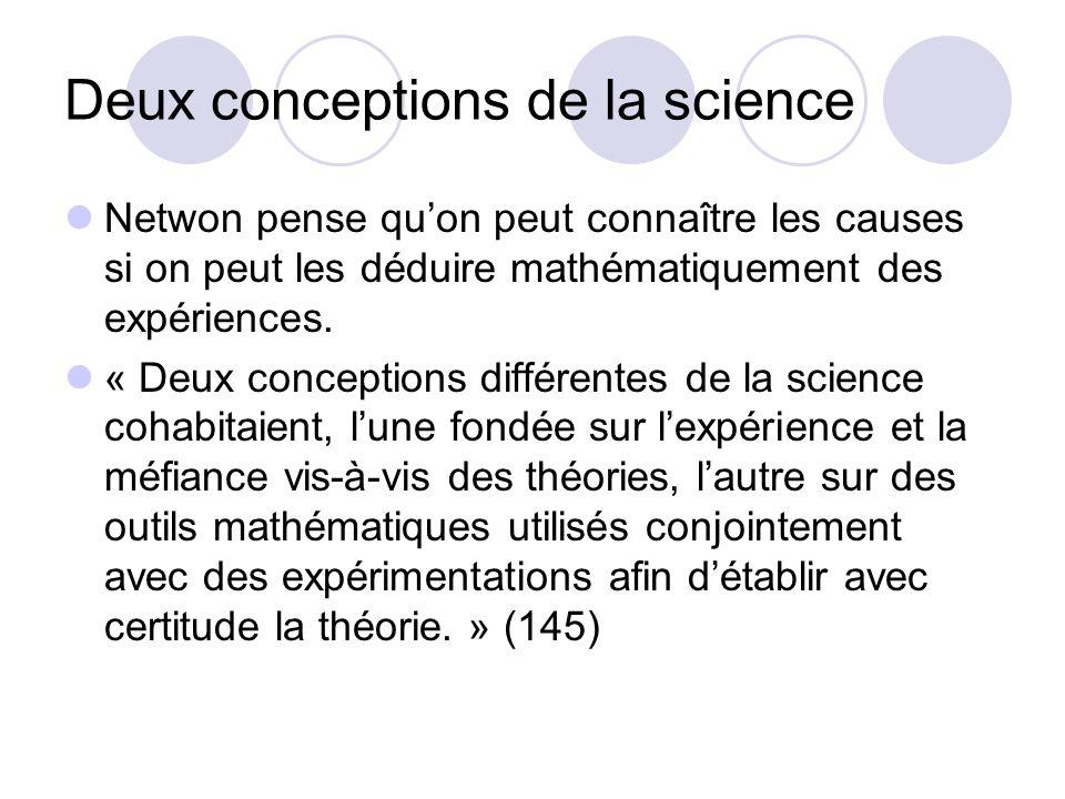 Deux conceptions de la science