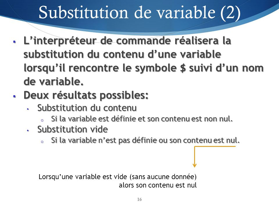 Substitution de variable (2)