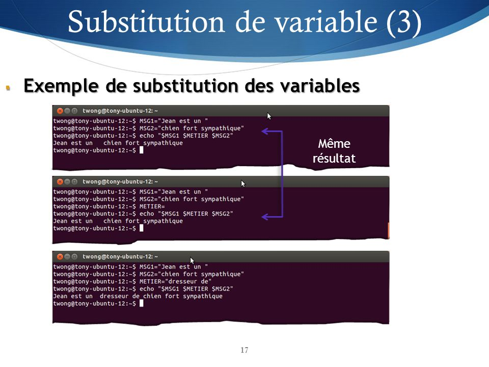 Substitution de variable (3)