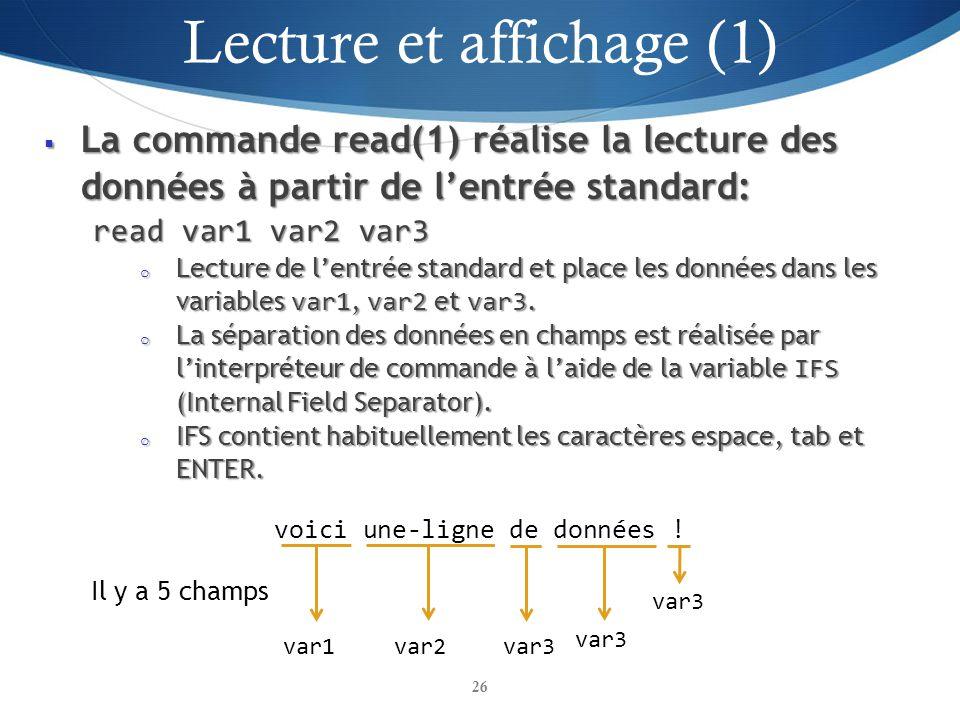 Lecture et affichage (1)