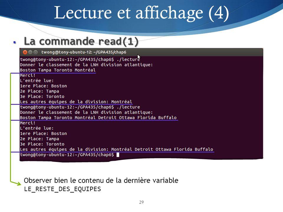 Lecture et affichage (4)