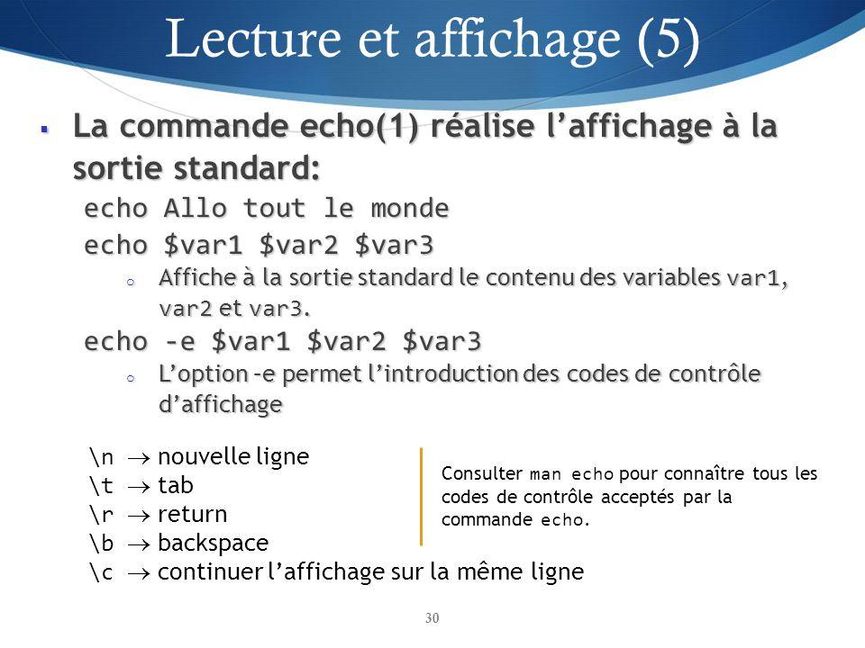 Lecture et affichage (5)